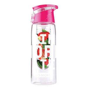 DO MORE デトックス ウォーター ボトル 水筒 マイボトル エコボトル Water infuser bottle 容量 700ml 100% BPAフリー 高品質 TRITAN プラスチック 製 【食衛法 検査済 日本正規品】全4色 (ピンク)