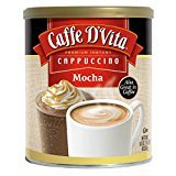Caffe D'Vita Mocha Cappuccino Hot or Cold Cappuccino Mix 64 Oz (Tamaño: 64 Ounce)