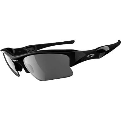 Oakley Flak Jacket XLJ Adult Polarized Sport Sports Wear Sunglasses/Eyewear - Color: Jet Black/Black Iridium, Size: One Size Fits All