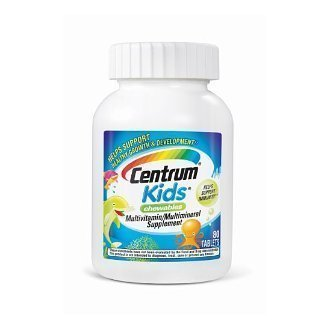 Centrum Kids Chewables Multivitamin/Multimi... Tablets, 80 Count (Pack Of 3)