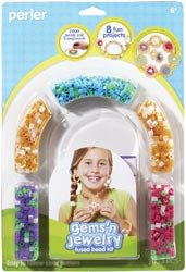 Perler Fun Fusion Fuse Bead Activity Kit Gems 'n Jewelry; 2 Items/Order