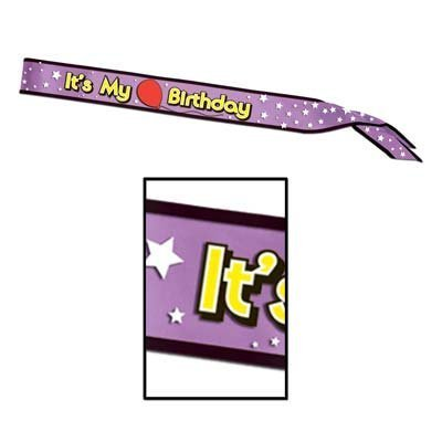 It's My Birthday Satin Sash Party Accessory (1 count) (1/Pkg)