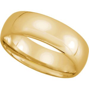 Genuine IceCarats Designer Jewelry Gift 10K Yellow Gold Wedding Band Ring Ring. 06.00 Mm Light Comfort Fit Band In 10K Yellowgold Size 13