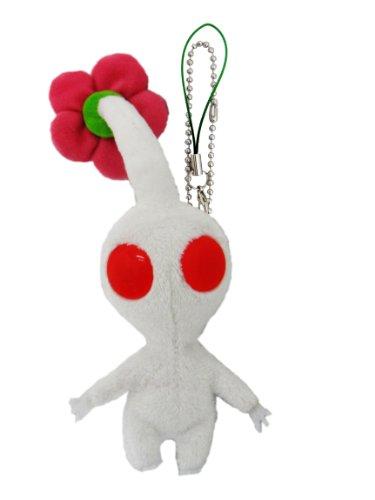 "Sanei Pikmin Mascot Plush Strap 5"" White Flower - 1"