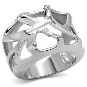 RIGHT HAND RING - Abstract High Polished Stainless Steel Dome Ring