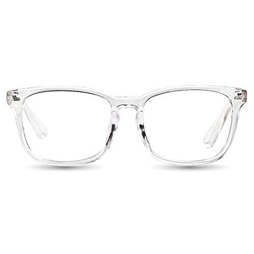 tijn chic transparent clear frame wayfarer glass rx able