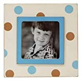 New Arrivals Frame, Blue/Brown Dot