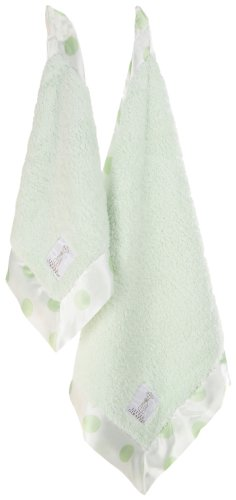Little Giraffe Love on the Go Chenille Blanket Gift Set, Celadon New Dot