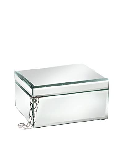 American Atelier Mirror Rectangle Jewelry Box, Clear