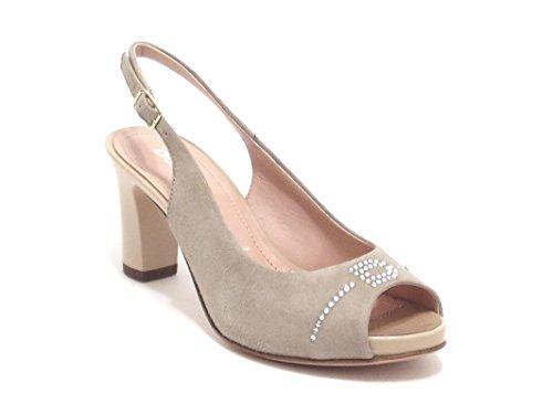 Donna Serena scarpe donna, modello 6071, sandalo in camoscio, colore onice