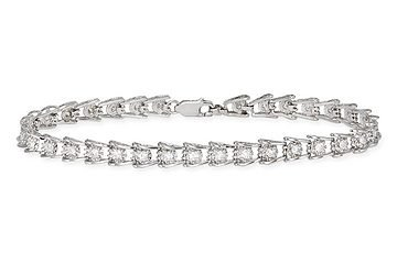 Diamond Bracelet - 14K white gold tennis bracelet (1 ct)
