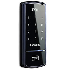 "Samsung EZON Digital Door Lock Deadbolt SHS-3120 (Black) (6.89""H x 2.7""W x 0.85""D)"