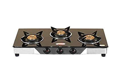Glass Top Gas Cooktop (3 Burner)