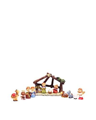 Decoración de Navidad Nacimiento Mini Infantil Con Portal 12 Piezas