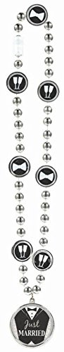 Amscan Avant Garde Groom Bead Necklace Wedding Party Favors,, Black