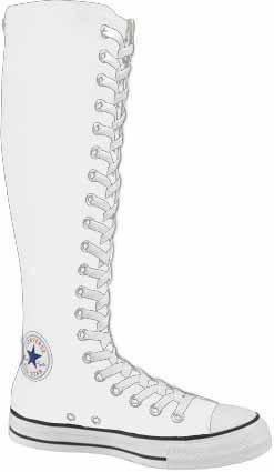 Converse Chuck Taylor All Star XX Hi White Zipper men`s 3/ women`s 5