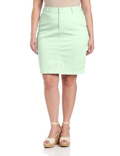 NYDJ Women's Plus-Size Rebecca Skirt Twill