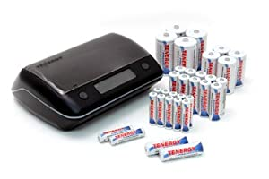 Combo: TN190 Universal LCD Battery Charger + 32 Premium NiMH Rechargeable Batteries (12AA/12AAA/4C/4D)