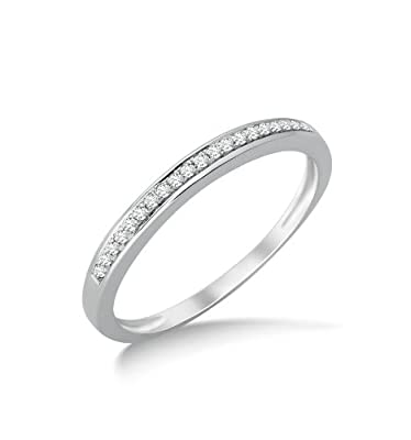 Miore SA953R 9 ct White Gold Diamond Eternity Ring