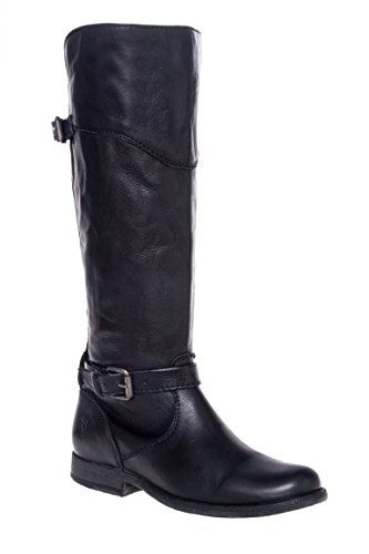 Phillip Riding Dual Buckle Low Heel Boot