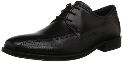 ECCO Men's Edinburgh Perf Toe Oxford,Black,44 EU/10-10.5 M US
