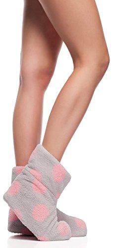 L&L Pantofole per Donna (Rosa Puntini/Cristal, EU 36/38)