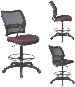 Height Adjustable Drafting Chair with Casters Fabric: Nano-Tex- Genesis Pear