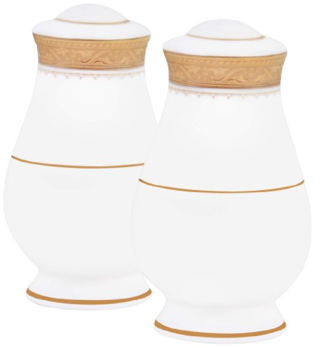 Noritake Odessa Salt and Pepper, Gold (Noritake Salt And Pepper Shakers compare prices)