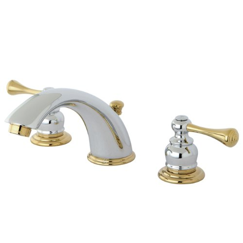 Kingston brass kb3974bl vintage classic 8 inch widespread for Bathroom 8 inch spread faucets