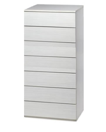 Cajonera para armario en 7 cajones Montada , dimensiones (100 ancho x 50 fondo x 122,7 de altura ), color Blanco