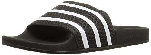 Adidas Originals Men's Adilette Slide Sandal,Black/White/Black,12 M US