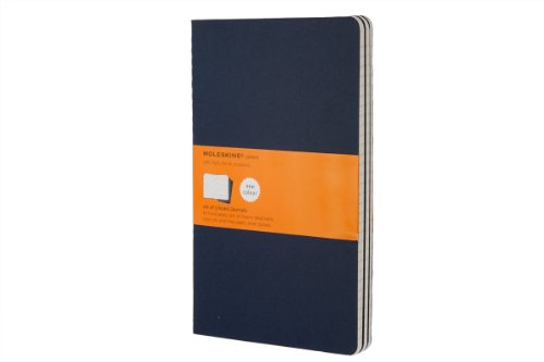 Set of 3 Cahier Large Ruled Journals, Blue Cover (Moleskine Srl) (3 Set Of Draws compare prices)