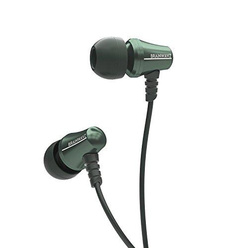 Brainwavz Jive Cuffie Auricolari in-ear con Isolamento Acustico Microfono e Telecomando a 3 Pulsanti (Verde iPhone)