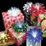 Fiber Optic LED Glowing Gift Bows (6 Bows)