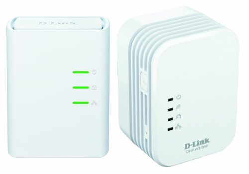 D-Link DHP-W311AV Kit 2 Mini Adattatori PowerLine Wireless AV500, bianco