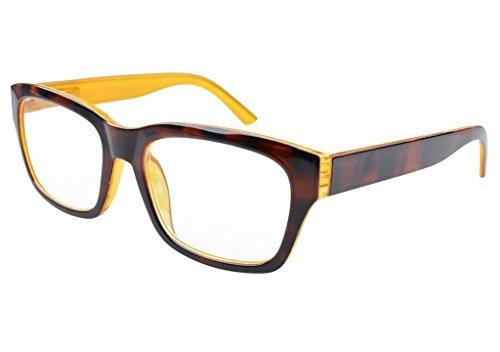 Eyekepper-Occhiali da vista/della lettura ha Grande montatura quadrata, Charniere a molla, Retro Vintage