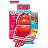 "Kong Rubber Aqua Floating Kong Retriever Dog Toy large- 5"" length Kong"