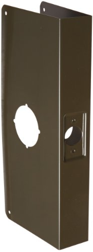 """Don-Jo 12-Cw 22 Gauge Stainless Steel Classic Wrap-Around Plate, Oil Rubbed Bronze Finish, 4-1/4"""" Width X 12"""" Height, For Cylinder Door Lock With 2-1/8"""" Hole"""