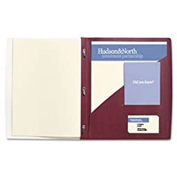 GBC 71110 IMPACT Frosted Front Report Cover with Tall Pocket, 11 x 8-1/2, Burgundy, 5/Pack