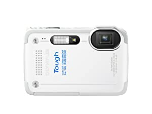 Olympus Stylus TG-630 iHS Digital Camera with 5x Optical Zoom and 3-Inch LCD (White)