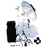 JTL TL-365 Light Kit, 2 Versalight, 1 Slave Strobe with Stands, Umbrellas, & Accessories