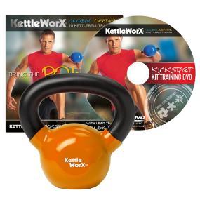 KettleWorX Kick Start Kit With 15 lb Kettlebell