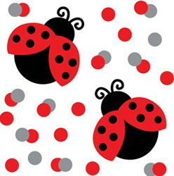 Ladybug Themed Party Confetti - 1/2 ounce bag - 1
