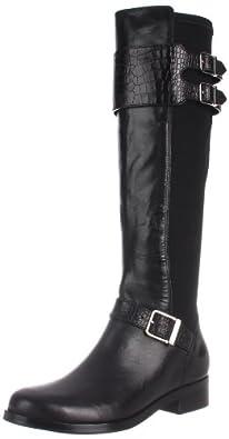 Cole Haan Women's Tennley Buckle Knee-High Boot,Black,5 B US