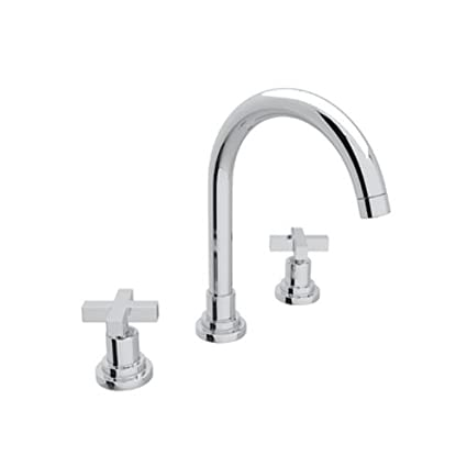 Rohl A2208XMAPC-2 Lombardia Widespread Bathroom Faucet with Metal Cross Handles, Polished Chrome