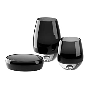 Glass Bathroom Set - Dark Grey