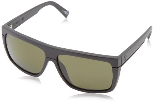 Electric Black Top Square Polarized Sunglasses,Matte Black,164 Mm