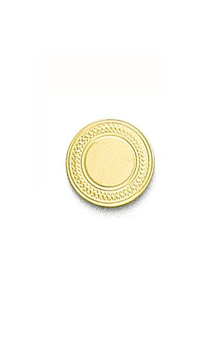 14k Yellow Gold Round Engraved Tie Tac-89661