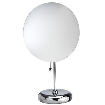 Danielle Rimless, Magnetic, Round Mirror On Round Base