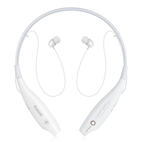 New Universal PChero® Wireless Music A2dp Stereo Bluetooth Headphones Vibration Headset Earphone Headphone for iPhone 6 Plus, iPhone 6 5S 5 4S, iPad 5 4 3 2, iPad Air, iPad Mini, Samsung Galaxy S5 S4 S3 SV, Note 4 3 2, HTC One - Bluetooth Enabled Devices - Cellphones, Tablets, MP3 Players, Laptop PCs - Using Voip, Skype and Online Talking [White]